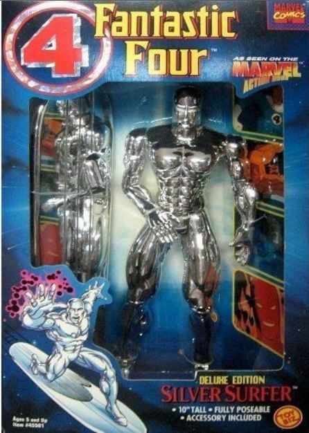 Marvel Action Hour Fantastic Four Deluxe Edition Silver Surfer Figure