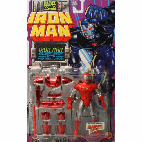 Marvel Action Hour Iron Man Hologram Armor Figure
