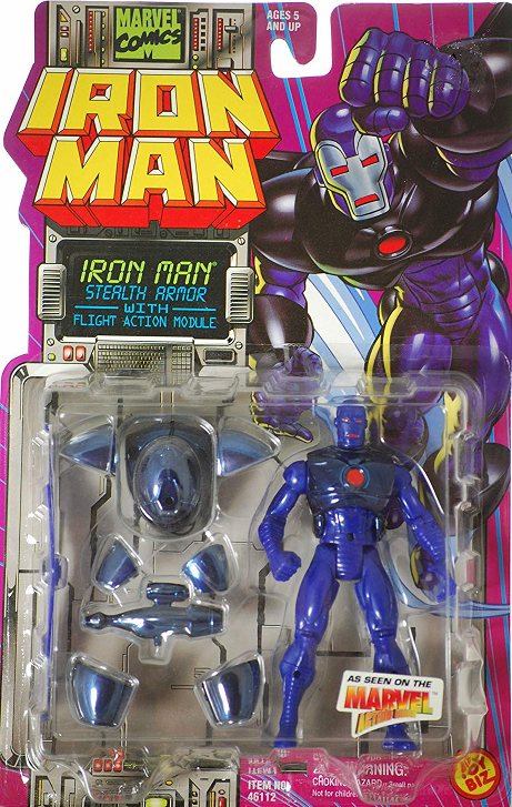Marvel Action Hour Iron Man Stealth Armor Figure