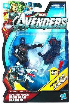 Marvel Avengers Concept Series Reaction Armor Iron Man Mark VI Figure