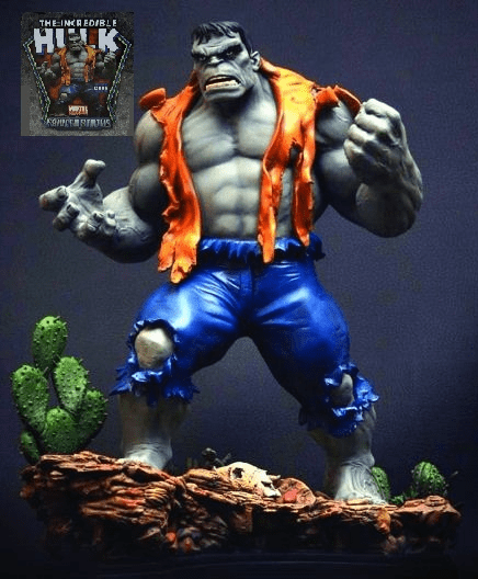 Marvel Bowen Retro Grey Hulk Statue