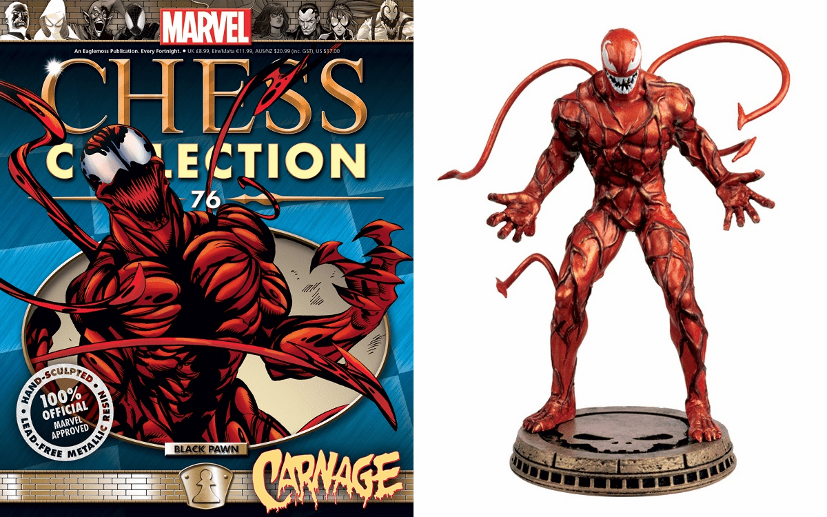 Marvel Chess Collection Black Pawn Carnage Magazine #76