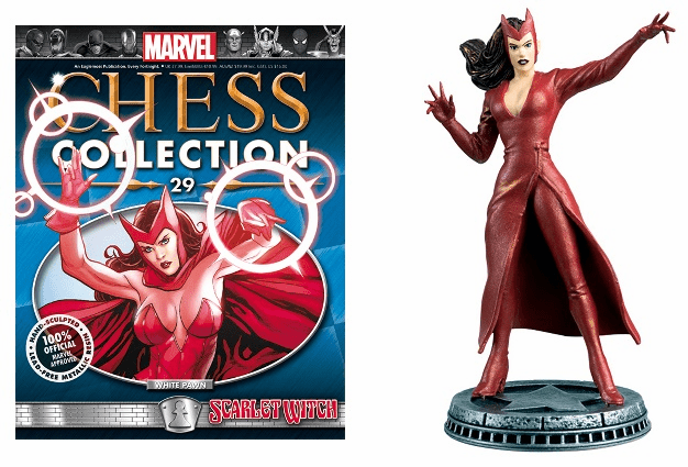 Marvel Chess Collection White Pawn Scarlet Witch Magazine #29