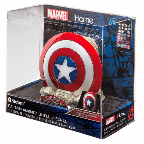 Marvel Comics Captain America Shield Bluetooth Speaker