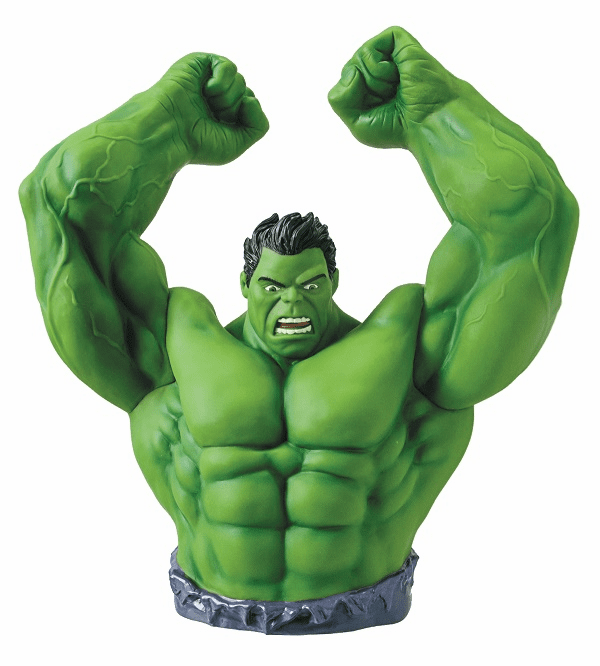 Marvel Comics Hulk Bust Coin Bank