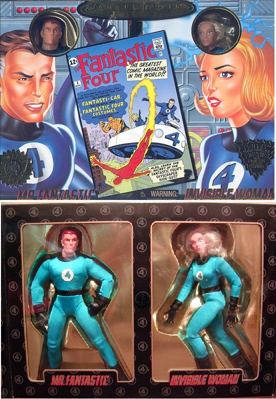 Marvel Famous Covers Mr. Fantastic and Invisible Woman Action Figure