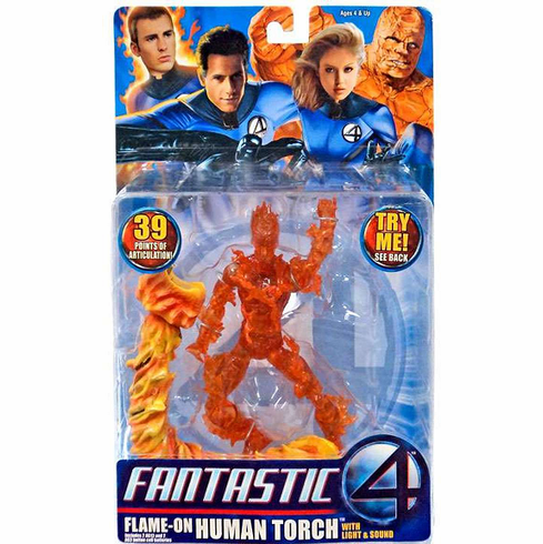 Marvel Fantastic Four Flame-On Human Torch Figure
