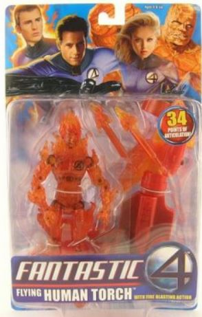 Marvel Fantastic Four Movie Flying Human Torch Figure