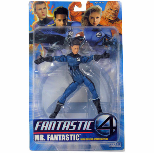 Marvel Fantastic Four Mr. Fantastic with Spring Attack Figure