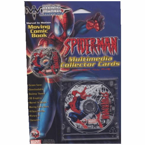 Marvel in Motion Spider-Man Multimedia Collector Cards CD Comic Book