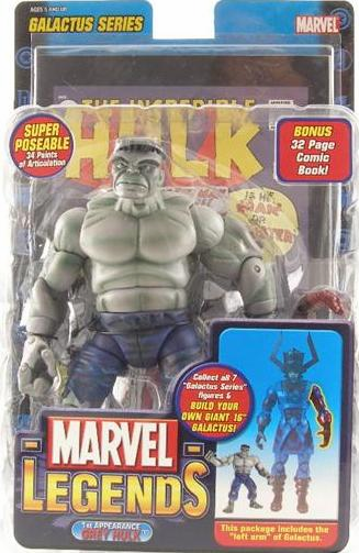 Marvel Legends Galactus Series 9 1st Appearance Grey Hulk Figure