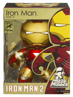 Marvel Mighty Muggs Iron Man Movie 2 San Diego Comic Con 2010 Figure