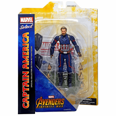 Marvel Select Avengers Infinity War Captain America Action Figure
