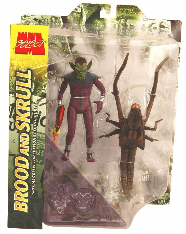 Marvel Select Brood and Skrull Figure Set