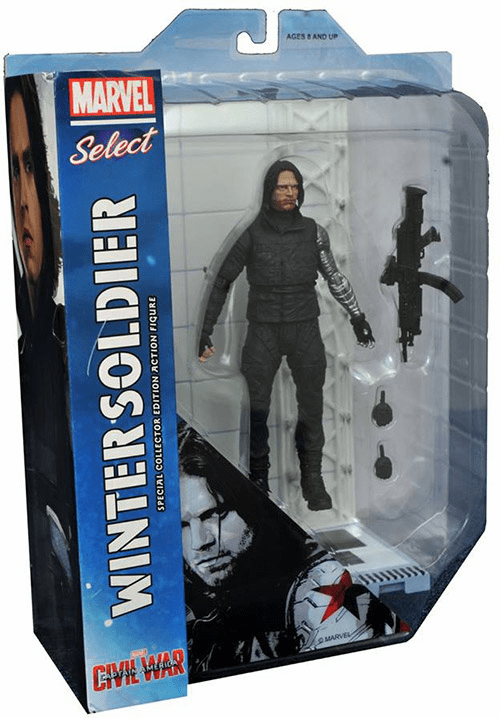 Marvel Select Captain America Civil War Winter Soldier Figure