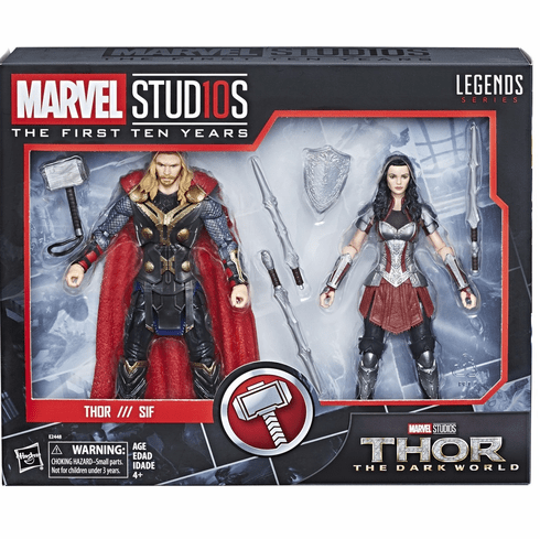 Marvel Studios First Ten Years Thor & Sif Figure Set