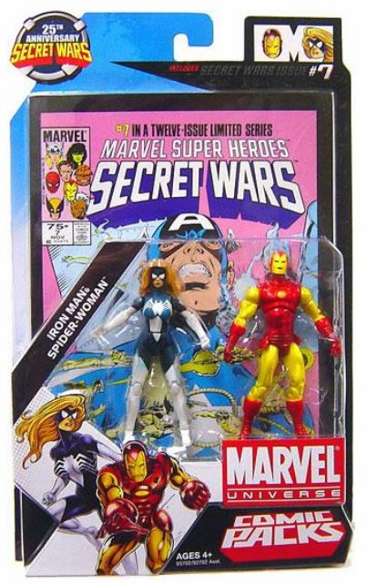 Marvel Universe Secret Wars Iron Man and Spider-Woman Figure Set