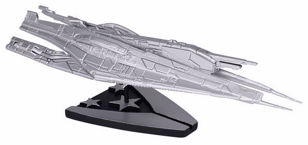 Mass Effect Alliance Cruiser Silver-Plated Ship