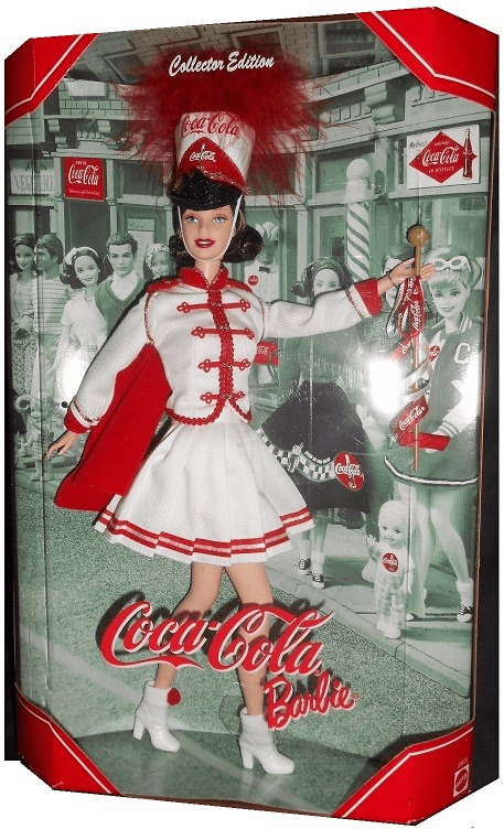 Mattel Barbie Coca-Cola Majorette Doll