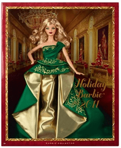 Mattel Barbie Holiday 2011 Doll