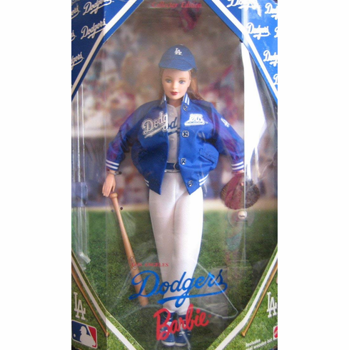 Mattel Barbie MLB Los Angeles Dodgers Doll
