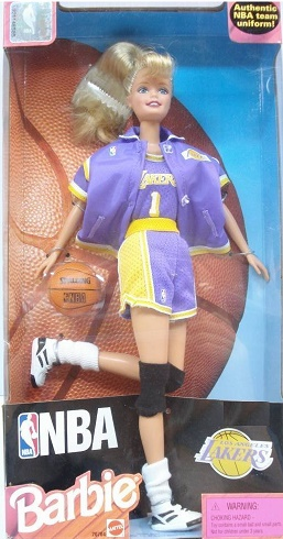 Mattel Barbie NBA Los Angeles Lakers Doll