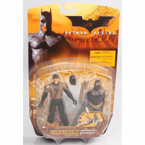 Mattel Batman Begins Ninja Bruce to Batman Figure