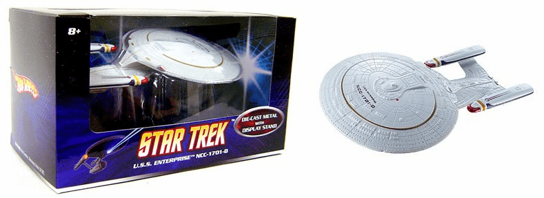 Mattel Hot Wheels Star Trek 1:50 Scale USS Enterprise NCC-1701 D Ship