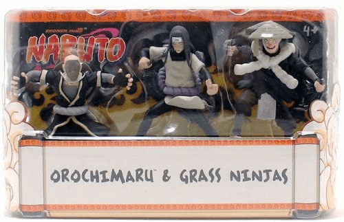 Mattel Naruto Orochimaru and Grass Ninjas Set
