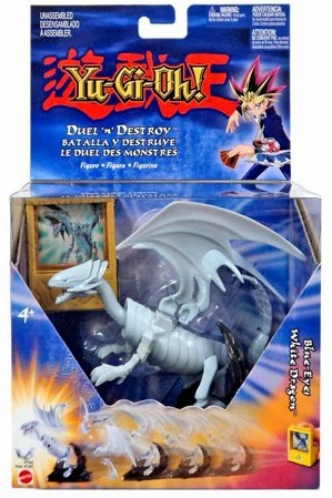 Mattel Yu-Gi-Oh! Duel 'n' Destroy Blue-Eyes White Dragon Figure