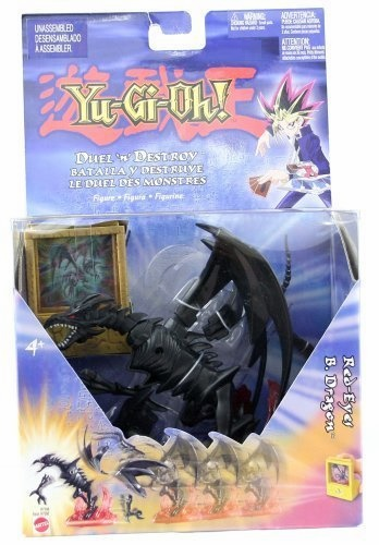 Mattel Yu-Gi-Oh! Duel 'n' Destroy Red-Eyes B. Dragon Figure