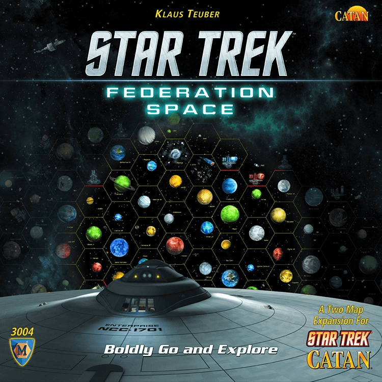 Mayfair Games Catan Star Trek Federation Space Map Set