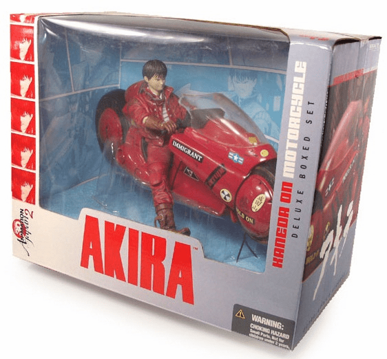 McFarlane 3D Animation 2 Akira Kaneda and Bike Box Set