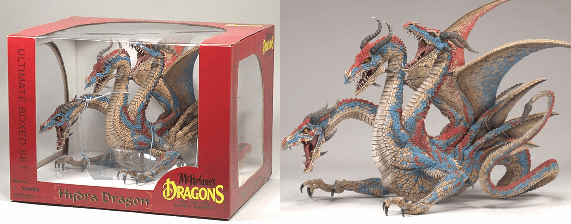 McFarlane Dragons The Fall of the Dragon Kingdom Hydra Dragon Box Set