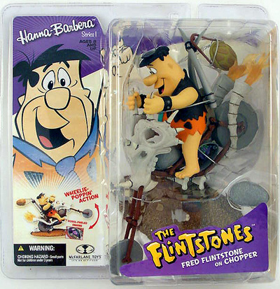 McFarlane Hanna-Barbera Fred Flinstone on Chopper Figure