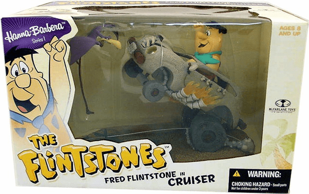 McFarlane Hanna-Barbera Fred Flintstone in Cruiser Box Set