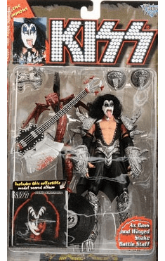 McFarlane KISS Black LP Gene Simmons Figure