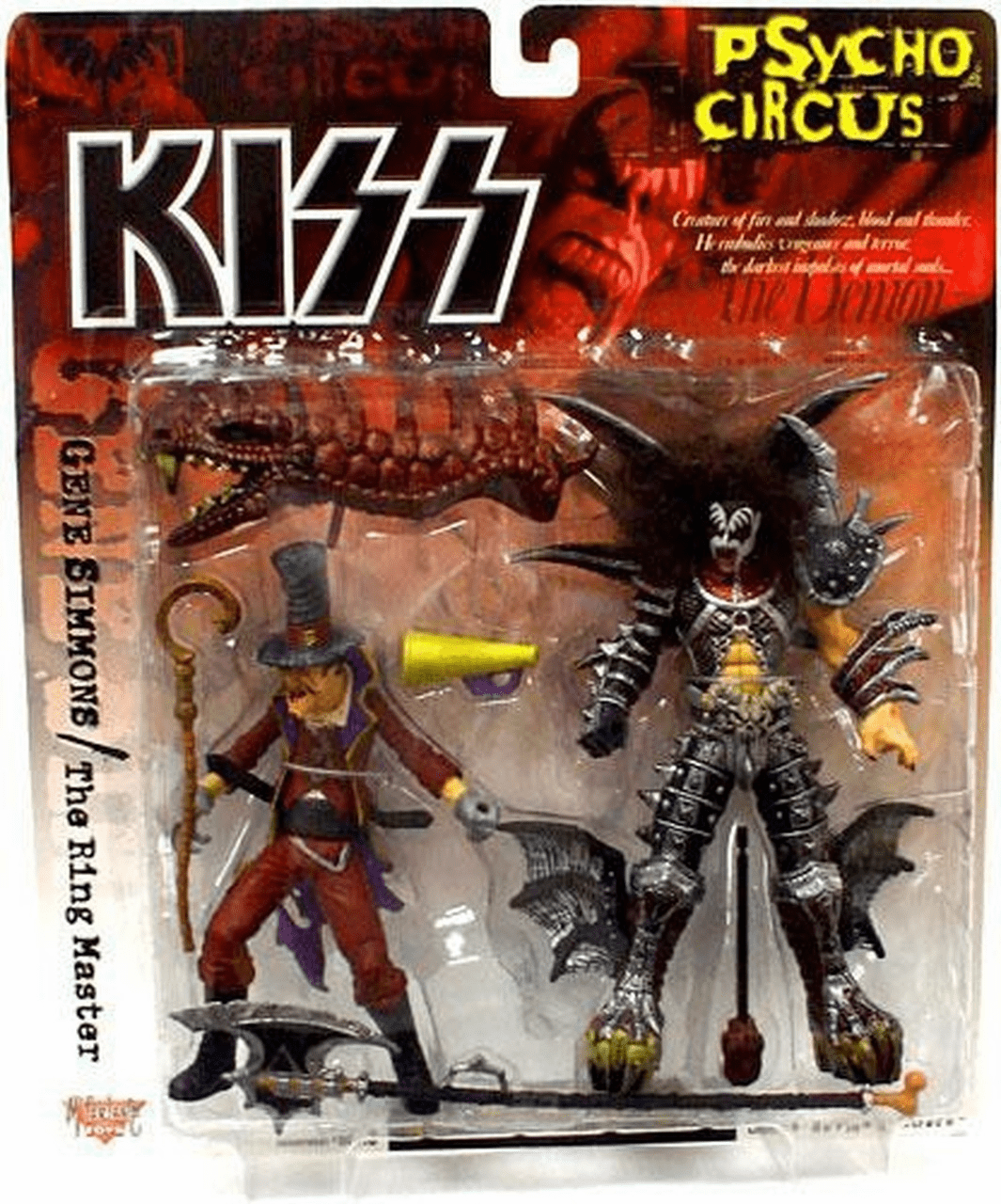 McFarlane KISS Psycho Circus Gene Simmons & The Ring Master Set