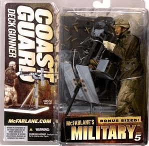 McFarlane Military 5 Coast Guard Deck Gunner Caucasian Figure