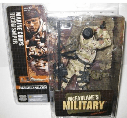 McFarlane Military Marine Recon Sniper African American Figure