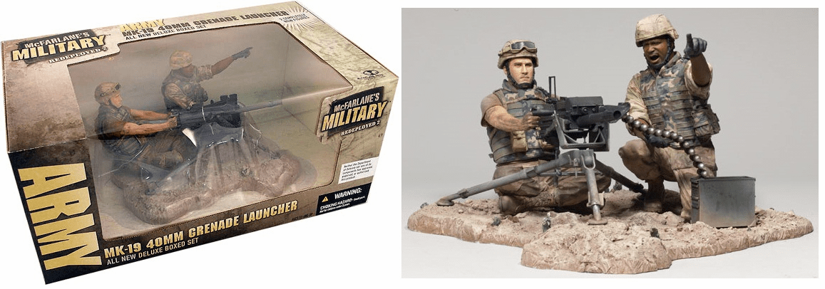 McFarlane Military Redeployed 2 Army MK-19 40MM Grenade Launcher Set