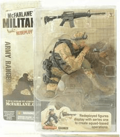 McFarlane Military Redeployed Army Ranger Caucasian Figure