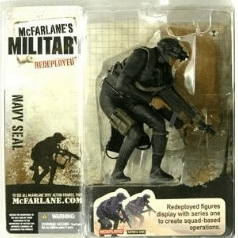 McFarlane Military Redeployed Navy Seal African American Figure