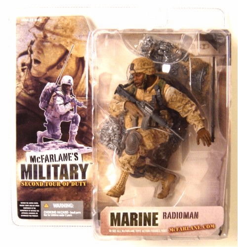 McFarlane Military Second Tour of Duty Marine Radioman African Figure