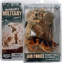 McFarlane Military Series 3 Air Force K-9 Handler Caucasian Figure
