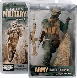 McFarlane Military Series 3 Army Ranger Sniper African American Figure