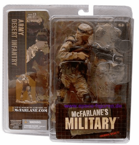 McFarlane Military Series Debut Army Desert Infantry Caucasian Figure