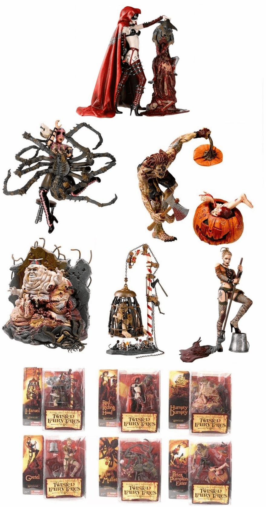 McFarlane Monsters Series 4 Twisted Fairy Tales Set