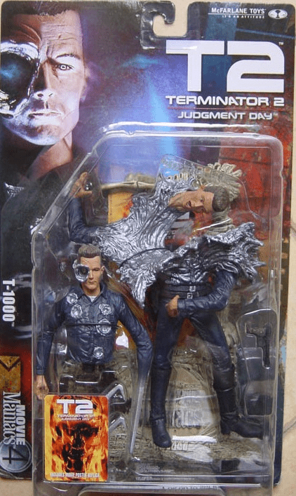 McFarlane Movie Maniacs 4 Terminator 2 T-1000 Figure