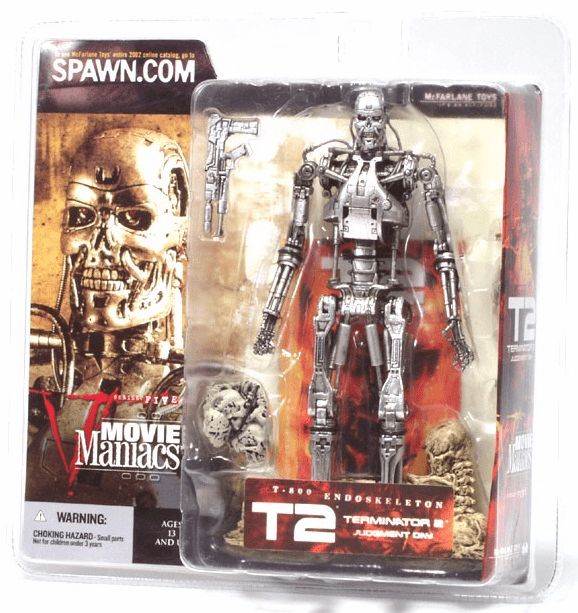 McFarlane Movie Maniacs 5 Terminator 2 T-800 Endoskeleton Figure